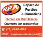 Conserto de Portões Automáticos  São Caetano do Sul 11 2143-9018