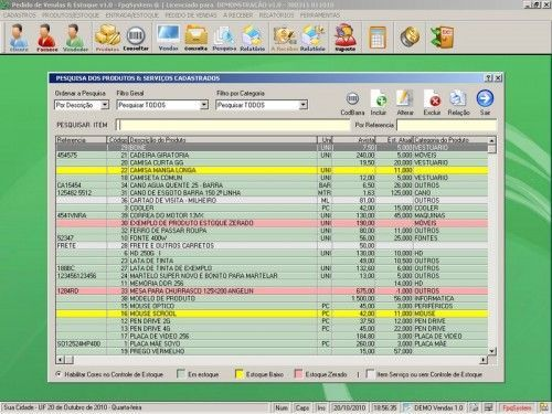 Programa para controlar vendas e estoque v1.0   FpqSystem 1894