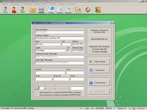 Programa para controlar vendas e estoque v1.0   FpqSystem 1900
