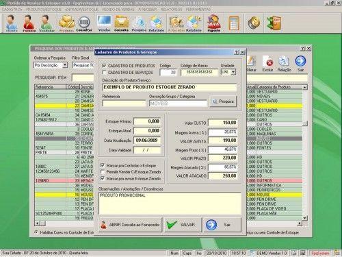 Programa para controlar vendas e estoque v1.0   FpqSystem 1901