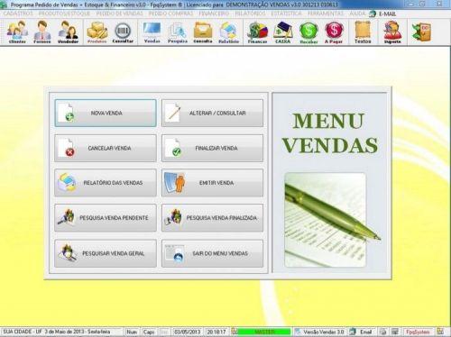 Programa Controle de Estoque, Pedido de Vendas e Financeiro v3.0 PLUS 15912