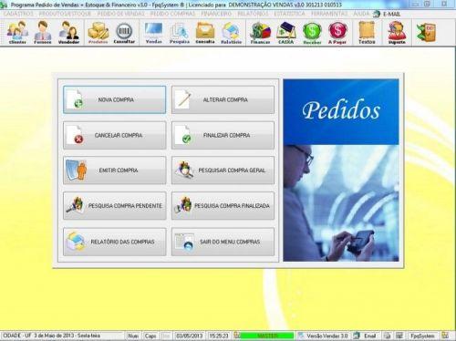 Programa Controle de Estoque, Pedido de Vendas e Financeiro v3.0 PLUS 15917