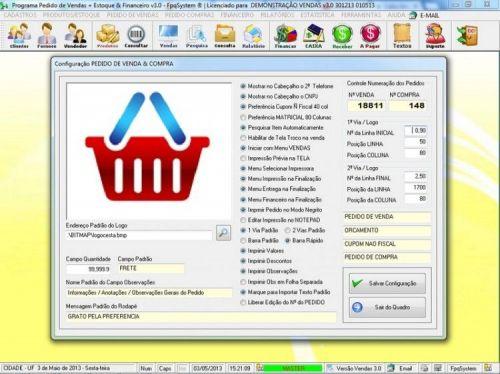 Programa Controle de Estoque, Pedido de Vendas e Financeiro v3.0 PLUS 15918