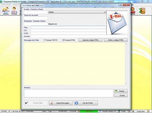 Programa Controle de Estoque, Pedido de Vendas e Financeiro v3.0 PLUS 15920