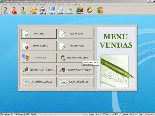 Programa para Controlar Vendas, Controlar Estoque e Financeiro v2.0 2522