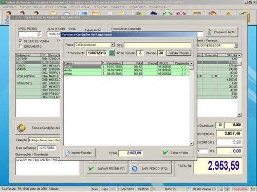 Programa para Controlar Vendas, Controlar Estoque e Financeiro v2.0 2527