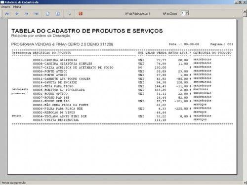 Programa para Controlar Vendas, Controlar Estoque e Financeiro v2.0 2529