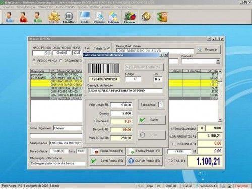 Programa para Controlar Vendas, Controlar Estoque e Financeiro v2.0 2530