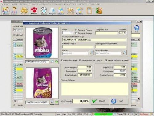 Programa para PetShop e Veterinária + Produtos e Serviços v1.0 2562