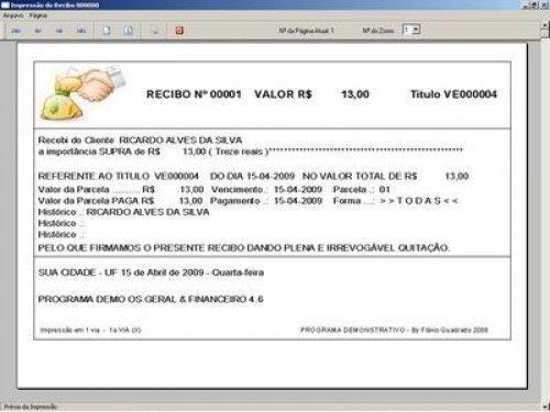 Programa Ordem de Serviços Gerais, Vendas, Estoque e Financeiro v4.6  FpqSystem 2650