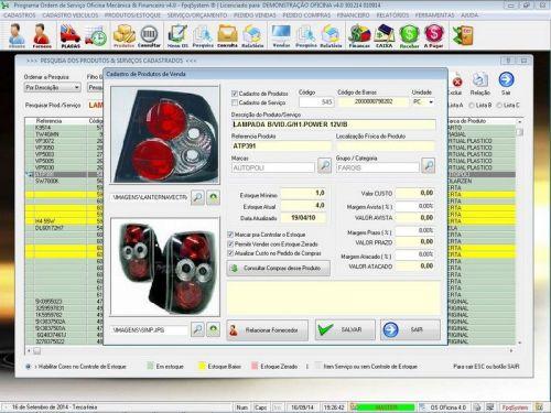 Programa para Oficina Mecânica para Veiculos em Geral, Vendas e Financeiro v4.0 FpqSystem 97777