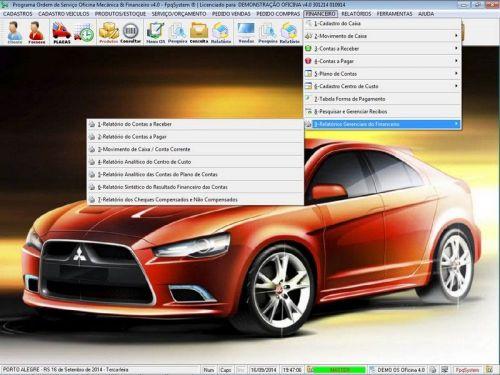 Programa para Oficina Mecânica para Veiculos em Geral, Vendas e Financeiro v4.0 FpqSystem 97782