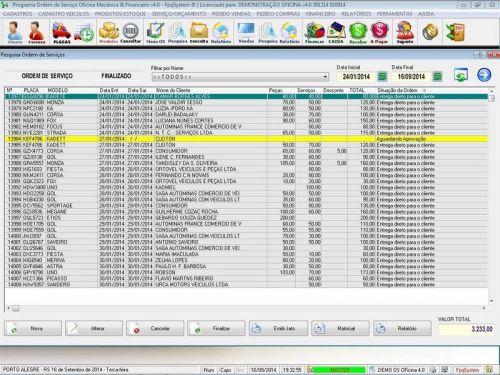 Programa para Oficina Mecânica para Veiculos em Geral, Vendas e Financeiro v4.0 FpqSystem 97787