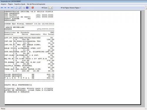 Programa para Oficina Mecânica para Veiculos em Geral, Vendas e Financeiro v4.0 FpqSystem 97792