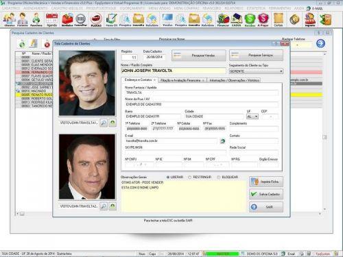 Programa para Oficina Mecânica com Check List + Vendas e Financeiro v5.0 92485