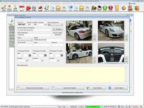 Programa para Oficina Mecânica com Check List + Vendas e Financeiro v5.0 92488