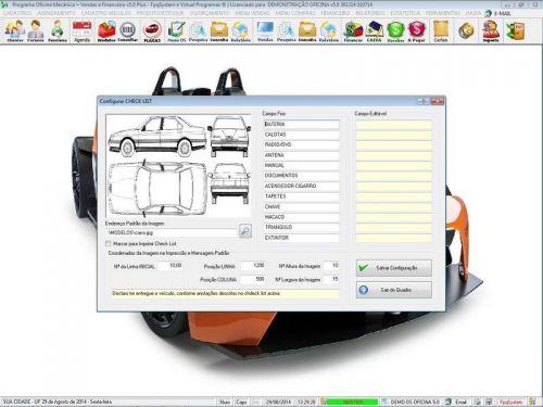 Programa para Oficina Mecânica com Check List + Vendas e Financeiro v5.0 92492