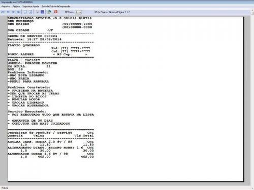 Programa para Oficina Mecânica com Check List + Vendas e Financeiro v5.0 92494