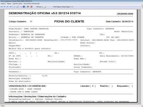 Programa para Oficina Mecânica com Check List + Vendas e Financeiro v5.0 92495