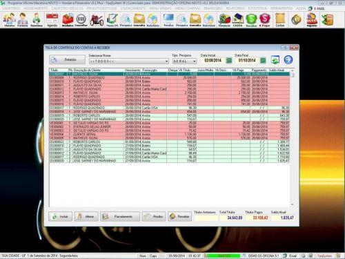 Programa para Oficina Mecânica MOTO com Check List + Vendas e Financeiro v5.1 PLUS 92522