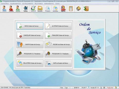 Programa Assistência Técnica, Ordem de Serviço e Orçamento v1.0 FpqSystem 96354