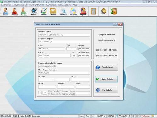 Programa Assistência Técnica, Ordem de Serviço e Orçamento v1.0 FpqSystem 96366