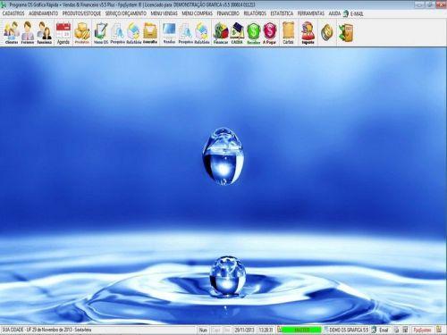 Programa Gráfica Rápida com Cadastro de Clientes, Serviços e Financeiro v5.5 PLUS - FpqSystem 97801