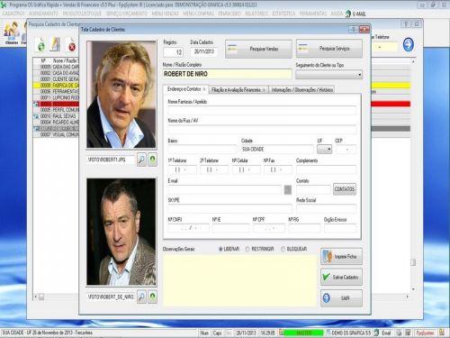 Programa Gráfica Rápida com Cadastro de Clientes, Serviços e Financeiro v5.5 PLUS - FpqSystem 97802