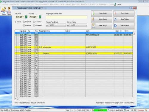 Programa Gráfica Rápida com Cadastro de Clientes, Serviços e Financeiro v5.5 PLUS - FpqSystem 97803