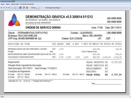 Programa Gráfica Rápida com Cadastro de Clientes, Serviços e Financeiro v5.5 PLUS - FpqSystem 97808