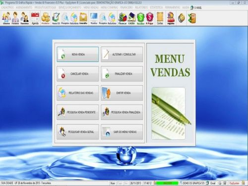 Programa Gráfica Rápida com Cadastro de Clientes, Serviços e Financeiro v5.5 PLUS - FpqSystem 97809