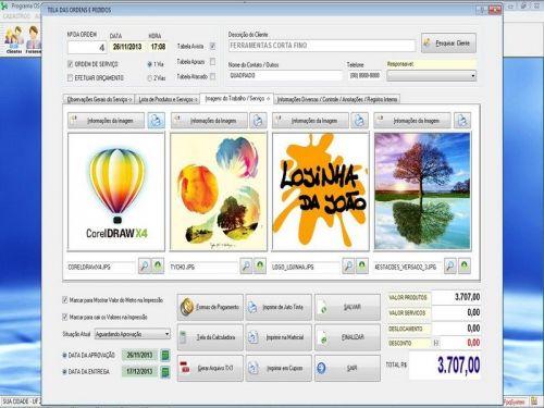 Programa Gráfica Rápida com Cadastro de Clientes, Serviços e Financeiro v5.5 PLUS - FpqSystem 97814