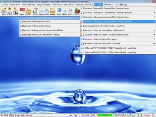 Programa Gráfica Rápida com Cadastro de Clientes, Serviços e Financeiro v5.5 PLUS - FpqSystem 97817