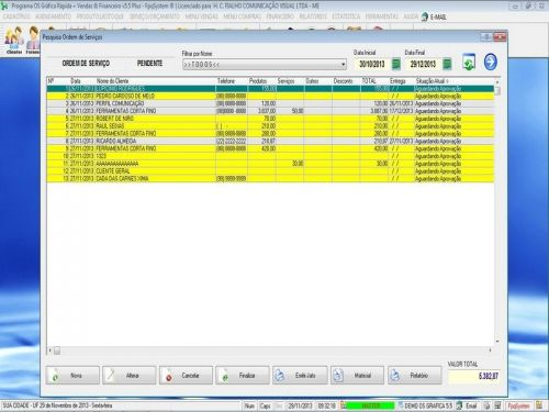 Programa Gráfica Rápida com Cadastro de Clientes, Serviços e Financeiro v5.5 PLUS - FpqSystem 97819