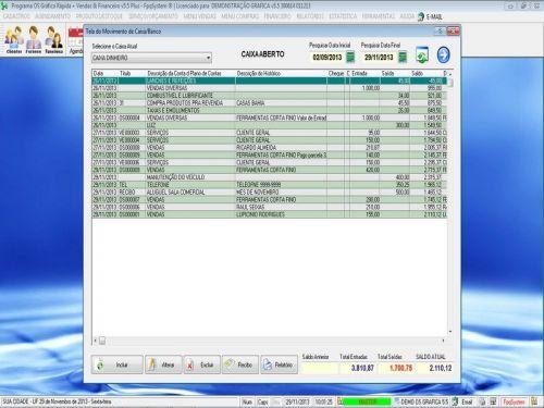 Programa Gráfica Rápida com Cadastro de Clientes, Serviços e Financeiro v5.5 PLUS - FpqSystem 97820