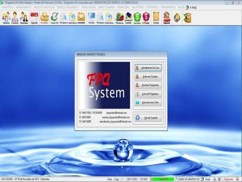 Programa Gráfica Rápida com Cadastro de Clientes, Serviços e Financeiro v5.5 PLUS - FpqSystem 97822