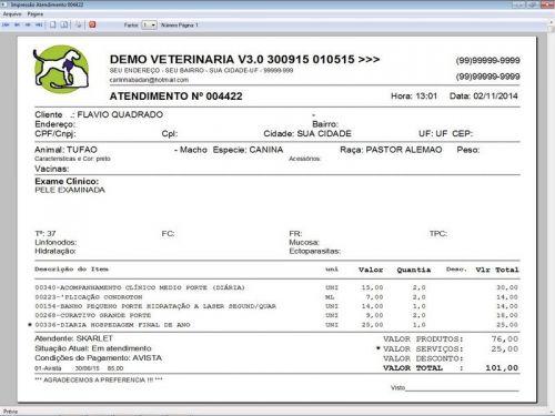 Programa para Clinica Veterinária com Agendamento, Vendas e Financeiro v3.0 146501