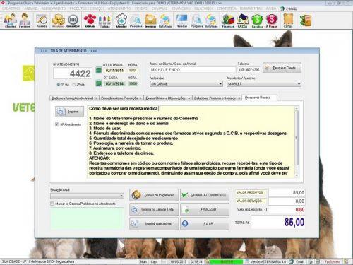 Programa para Clinica Veterinária com Agendamento, Vendas e Financeiro v4.0 Plus 146518