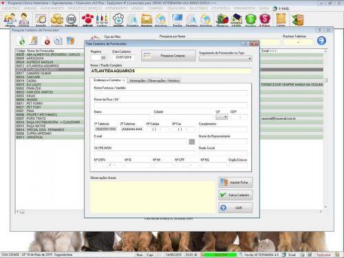 Programa para Clinica Veterinária com Agendamento, Vendas e Financeiro v4.0 Plus 146521