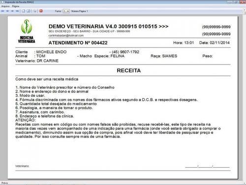 Programa para Clinica Veterinária com Agendamento, Vendas e Financeiro v4.0 Plus 146529
