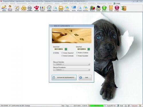 Programa para PetShop e Agropecuária com Agendamento, Vendas e Financeiro v4.0 Plus 151137