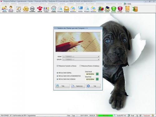 Programa para PetShop e Agropecuária com Agendamento, Vendas e Financeiro v4.0 Plus 151138