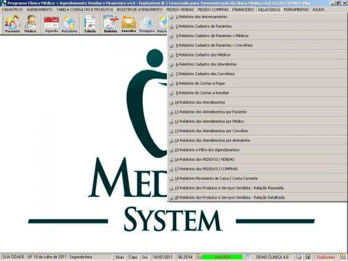Programa Consultório e Clinica Médica com Agendamento, Vendas e Financeiro v4.0 151743