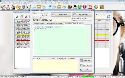 Programa para Ótica e Relojoalheria Vendas + Financeiro v4.4 - FpqSystem 151962