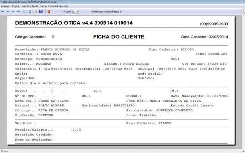 Programa para Ótica e Relojoalheria Vendas + Financeiro v4.4 - FpqSystem 151969