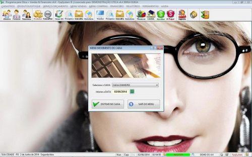 Programa para Ótica e Relojoalheria Vendas + Financeiro v4.4 - FpqSystem 151972