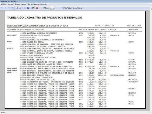 Programa Ordem de Serviço Marmoraria com Vendas e Financeiro e Agendamento v5.8 152285