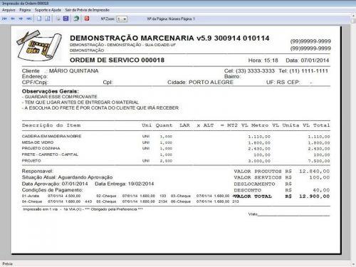 Programa Ordem de Serviço Marcenaria com Vendas e Financeiro e Agendamento v5.9 - FpqSystem 152301