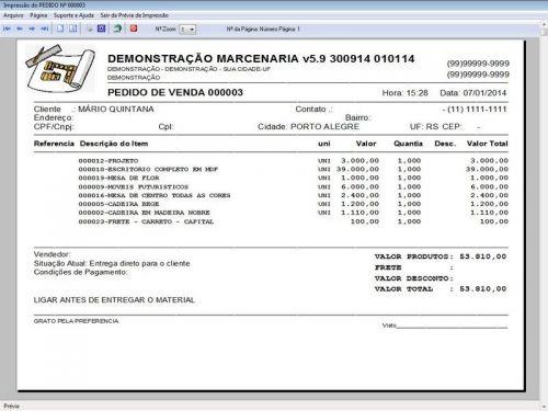 Programa Ordem de Serviço Marcenaria com Vendas e Financeiro e Agendamento v5.9 - FpqSystem 152302