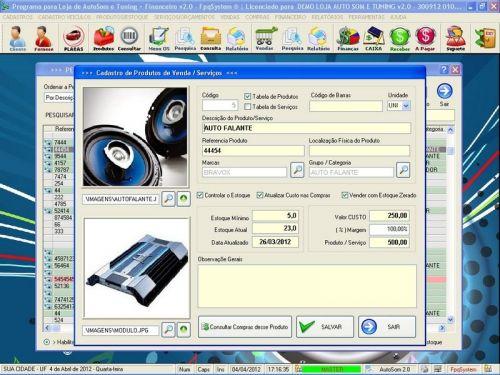 Programa para AutoSom e Tunning + Vendas e Financeiro v2.0 - Fpqsystem 152336